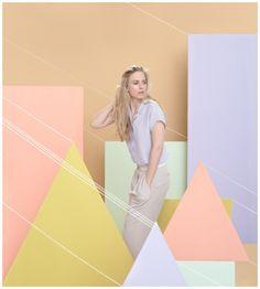 pastel shapes backdrop