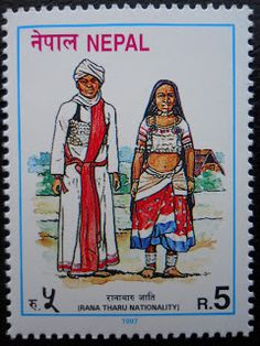 Stamps, covers and postcards of traditional/folk costumes: Stamps / Costumes - Nepal / Nepalas