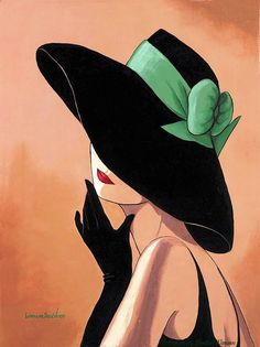 Lorraine Dell Woo ~ Flirty Hat,Lorraine Dell Wood Tutt'Art@ () How To Make Wood Art ? Wood art is generally the task of surrounding about and inside, provided the outer lining of so. Art And Illustration, Fashion Art, Art Nouveau, Pop Art, Art Drawings, Canvas Art, My Arts, Sketches, Artwork
