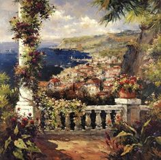 View From The Terrace by Peter Bell art print