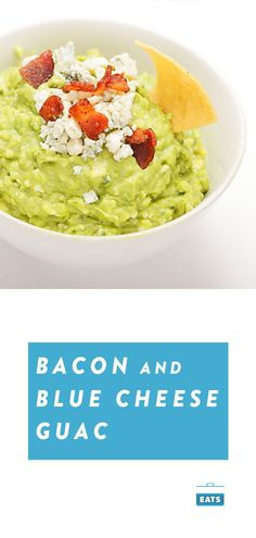 Bacon and blue cheese bring smoke and funk to the table. Enjoy it on tortilla trips or try it as a topping on burgers and sliders. Bacon Recipes, Avocado Recipes, Appetizer Recipes, Appetizers, Food Prep, Meal Prep, Bacon Bacon, Guacamole Recipe, Serious Eats