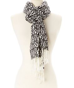 Love this Black & White Damask Scarf on #zulily! #zulilyfinds