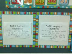 Objectives for content and for language to use!