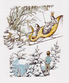 (The White Witch and Edmund, by Pauline Baynes, from The Lion, the Witch and the Wardrobe,