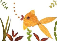 We have gathered more than 35 creative leaf animal ideas to give you a little inspiration on leaf crafts. Autumn Leaves Craft, Autumn Crafts, Autumn Art, Nature Crafts, Leave In, Leaf Projects, Art Projects, Art Floral, Dry Leaf Art