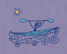 Purple Kayak Art