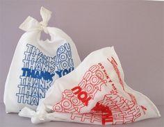 lauren dicioccio, 'thanks You' bags, hand embroidered organza, 2009