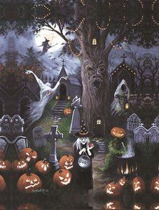 Halloween Night - Large Format Jigsaw Puzzle by SunsOut Halloween Puzzles, Christmas Jigsaw Puzzles, Christmas Puzzle, Halloween Images, Halloween Art, Halloween Night, Happy Halloween, Halloween Decorations, Jigsaw Puzzle Fun