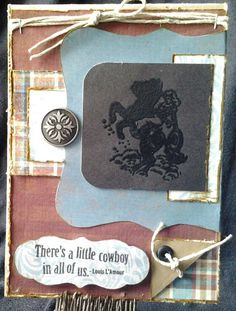 Feminine western card made by Christa Trude
