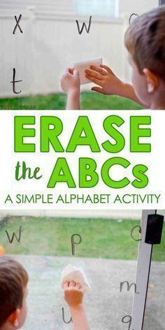 Erase the ABCs: Easy Alphabet Activity - Busy Toddler