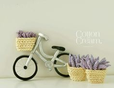 Bicycle & lavender topper
