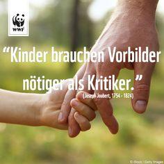 """Zitat zum Sonntag: """"Kinder brauchen Vorbilder nötiger als Kritiker."""" (Joseph Joubert)"""