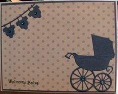 Welcome Baby card by StampingGEM on Etsy.  Memory Box die cuts used.  $3.25