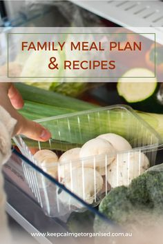 Family meal plan and recipes 13th June