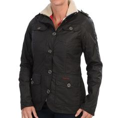 Barbour Compass Jacket - Waxed Cotton (For Women))