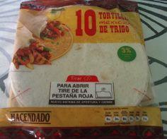 10 Tortillas mexicanas de trigo Hacendado (Mercadona) - 1 unidad 2,5 puntos.
