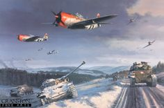 Thunderbolts and Lightnings by Nicolas Trudgian. - Cranston Fine Arts Aviation, Military and Naval Art