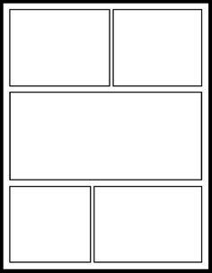 comic template for my comics unit - Cartoon Template Printable