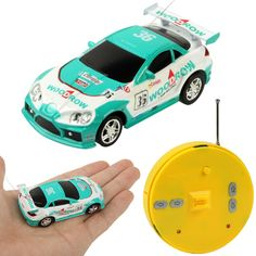1:64 Scale Mini Radio Control RC Racing Car with Light, Frequency: 27MHz, Size: 69 x 32 x 20mm (2018-2)