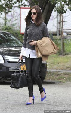 安海瑟薇Anne Hathaway長髮時尚造型電影《高年級實習生The Intern》穿搭先修班