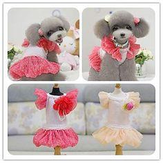 Cute Fine Bubble Skirt Wedding Dress Dog Clothes Fibrous Apparel Black&Red&Light&Purple&Pink&Beige XS&S&M&L – USD $ 24.79