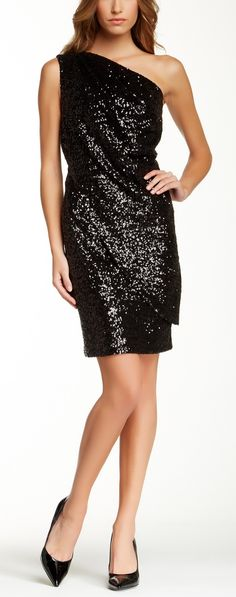 Sparkly, Sequin LBD. Perfect for the holidays!