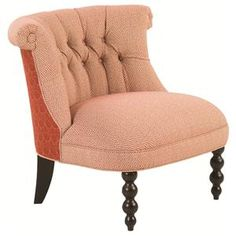 Accent Chairs Haight Rolled Back Chair with Decorative Wooden Legs by Robin Bruce at Sprintz Furniture