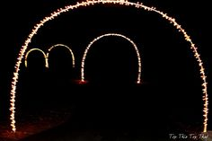 Top This Top That: Outdoor Christmas Lights {tutorial for lighted arches}