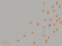 Fall digital wallpaper for desktop and iPhone