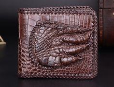 (199.00$)  Watch more here - http://aiez4.worlditems.win/all/product.php?id=32691137136 - 100% genuine alligator skin leather men wallet crocodile leather skin wallets and purse, luxury money clip for business men