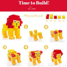 ROAR! Can you build the #king of the #jungle? Follow our simple step-by-step guide! #DIY #CreativePlay #Lion #MegaBloks