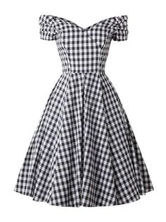 Black Plaid Swing Dress - Black Plaid Swing Dress – vintage dresses,vintage dresses dresses dresses casual dresses Source by - Vintage Fashion 1950s, Vintage Dresses 50s, Mode Vintage, Retro Dress, Vintage Outfits, 50s Vintage, Vintage Room, Vintage Party, Vintage Black