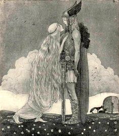 Remins me of Eros and Psyche. Or a Viking Prince...Illustration by John Bauer