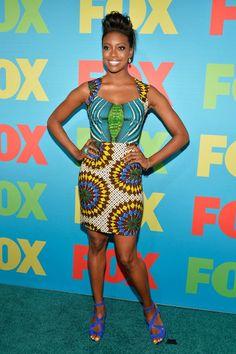 Condola Rashad's Boxing Kitten Ankara Billie Cutout Dress.. #Africanfashion #AfricanWeddings #Africanprints #Ethnicprints #Africanwomen #africanTradition #AfricanArt #AfricanStyle #Kitenge #AfricanBeads #Gele #Kente #Ankara #Nigerianfashion #Ghanaianfashion #Kenyanfashion #Burundifashion #senegalesefashion #Swahilifashion ~DK