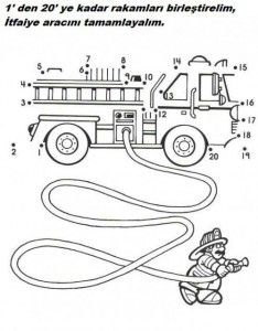 dot to dot fire truck worksheet