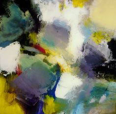 """Abstract Painting """"Azure"""" by Jeffrey Bisaillon"""