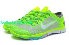 VIegEl Mens Nike Free Tr Fit Light Grey Fluorescence Green Training $49.54