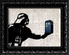 Darth Vader  The Tardis  Dr Who Parody Geekery by TheRekindledPage, $8.98