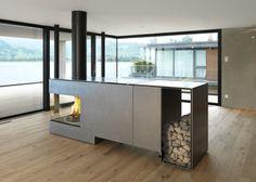 Feuerstelle Objekt KR: Moderne Wohnzimmer Von Wirthu0026amp;Schmid AG Ofen  Wohnzimmer, Badezimmer