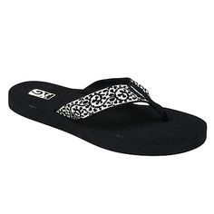 MUSH by TEVA. By far, the most comfortable flip-flops I have ever owned. Teva hasn't failed me yet!