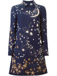 Valentino A-linien-kleid Mit Sternen - Stefania Mode - Farfetch.com