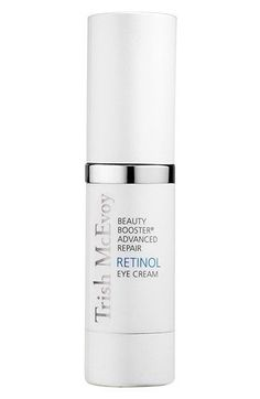 Trish McEvoy Beauty Booster® Advanced Repair Retinol eye cream is a potent anti-aging eye treatment formulated with the highest concentration of Retinol in synergy with the powerful antioxidant resveratrol and moisture-binding hyaluronic acid