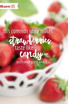 Who would have thought? This spice makes your strawberries even more delicious!!