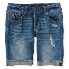 It can be hard to find shorts for girls that aren't super short! So these Arizona Denim Bermuda Shorts are a great find - cute and a great length! #jcpAmbassador #sponsor #BH