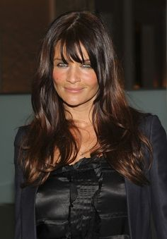 Helena Christensen Photos Photos: Cinema Society & Calvin Klein Jeans Host Screening Of After Party Helena Christensen, Top Models, Celebrity Bangs, Hc Hair, Most Beautiful Eyes, Long Hair With Bangs, Love Hair, Messy Hairstyles, Dark Hair
