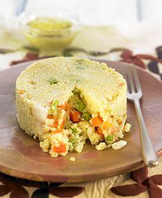 Pastel de mijo con verduras y mayonesa verde | Delicooks | Good Food Good Life