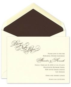 Night Before Invitations - William Arthur (#103927)    FineStationery.com