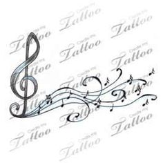 Marketplace Tattoo Music Notes And Treble Clef Createmytattoo