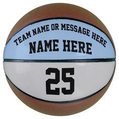 Personalized Basketball Ball for Basketball Player - tap, personalize, buy right now!  #basketball #players #blue #gray #black Personalized Basketball, Basketball Gifts, Basketball Season, Basketball Coach, Love And Basketball, Basketball Players, Personalized Gifts, Basketball Motivation, Gifts For Sports Fans