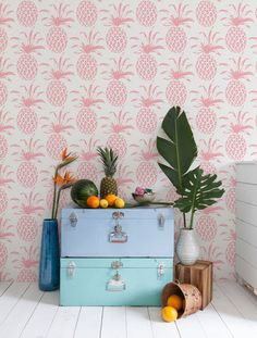 Give your walls an upgrade with a daring pattern from floor to ceiling.